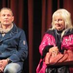 Володимир Борисюк і Тетяна Іващенко на прес-конференції перед виставою
